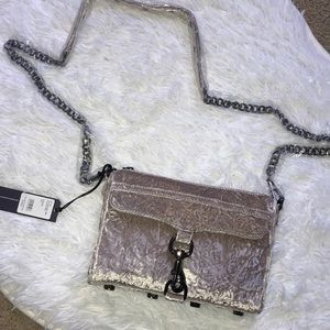 New Rebecca Minkoff Velvet Mini Mac Crossbody Bag